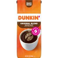 Dunkin' Donuts Original Blend Whole Bean Coffee, Medium Roast, 12-Ounce