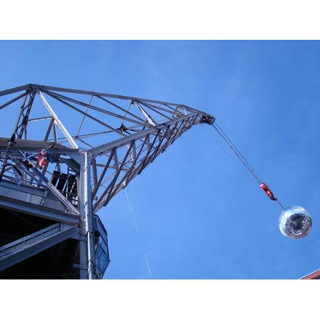 Ball Cranes (Canvas Print Crane Port Disco Ball Hamburg Harbour City Stretched Canvas 10 x 14 )