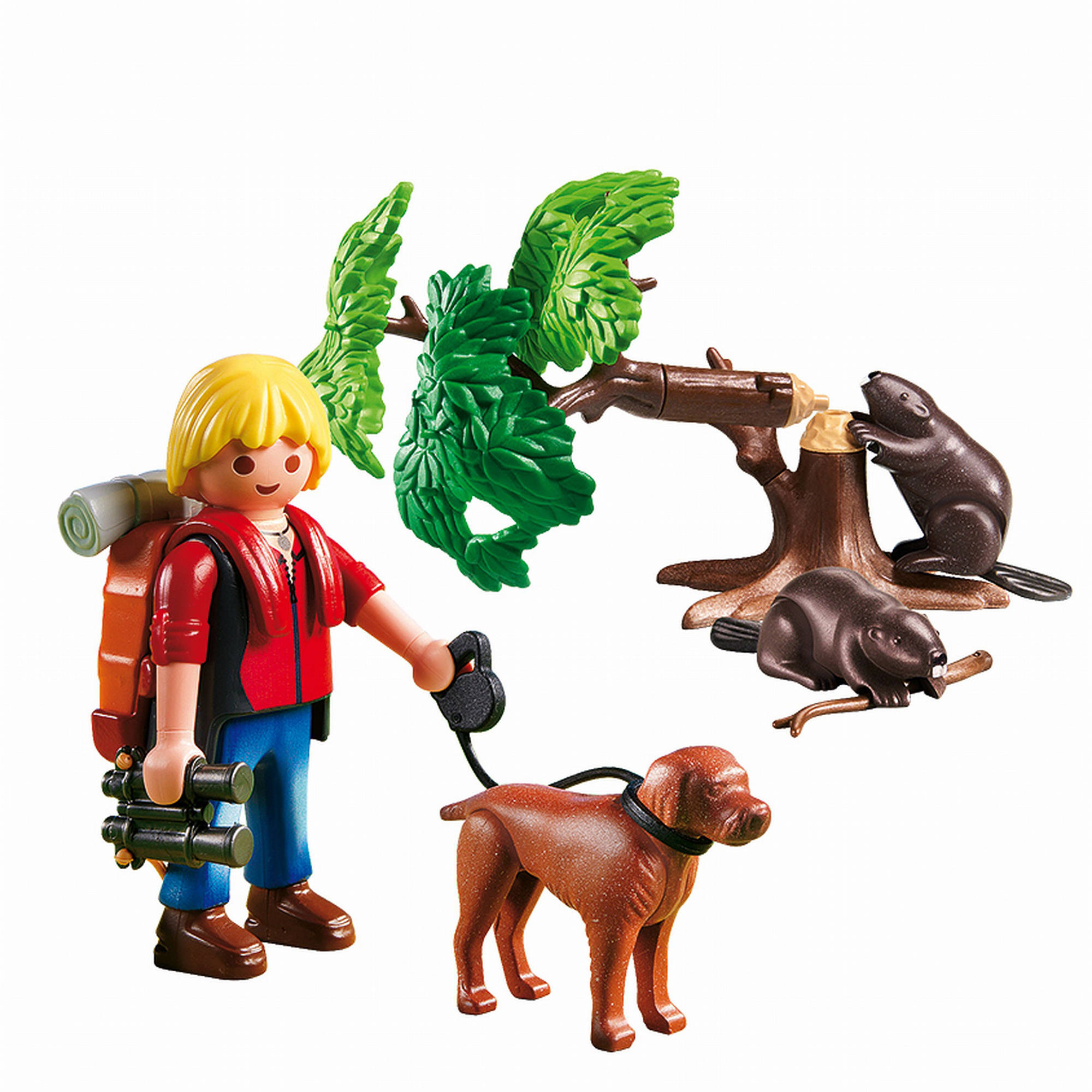 Playmobil Beavers with Backpacker