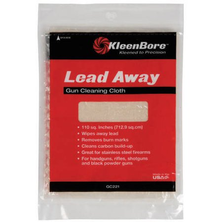 KLEEN-BORE LEAD AWAY GUN CLEANING CLOTH CLEANING CLOTH 100 SQ INCH