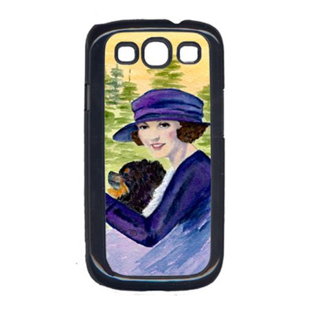 Lady driving with her Pomeranian Cell Phone Cover GALAXY S111