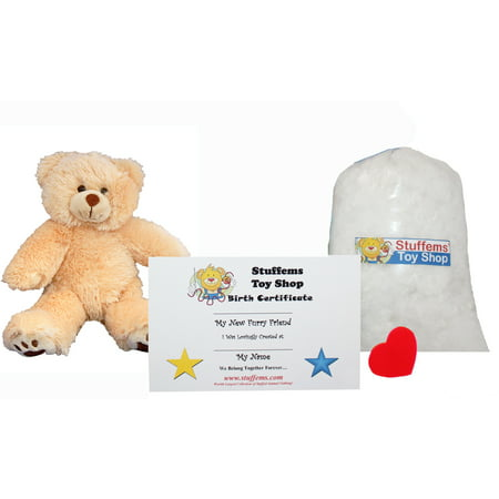 Make Your Own Stuffed Animal Mini 8 Inch Furry Brown Teddy Bear Kit - No Sewing Required!](7 Ft Teddy Bear)