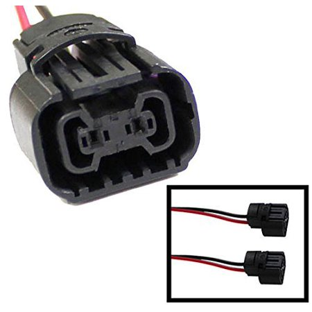 iJDMTOY (2) 5202 2504 PS24W Bulbs Female Connector Wiring Pigtail Harnesses For Fog Lights/Daytime Running -