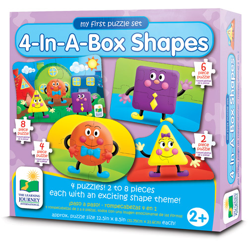 The Learning Journey My First Puzzle Set, 4-in-a-Box, Shapes
