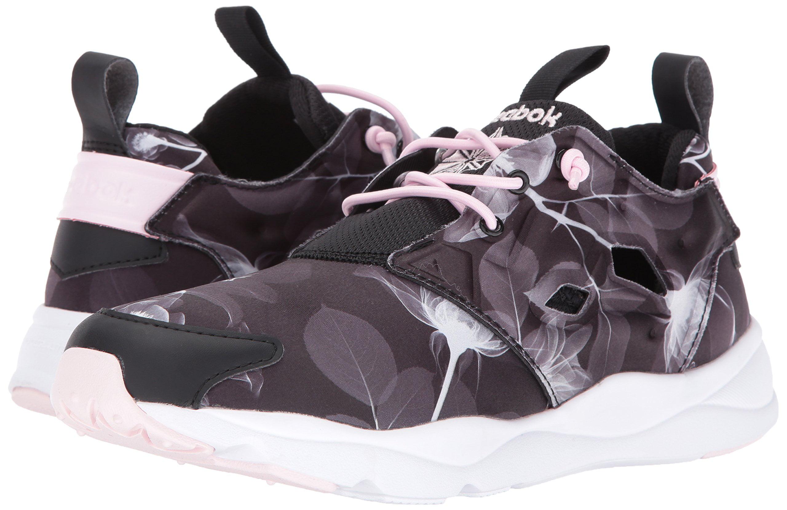 super popular c6096 4759e Reebok - Reebok AQ9836  Women s Furylite Graphic Fashion Sneaker, Floral  Black White - Walmart.com