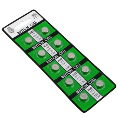 Insten 10 PCS AG3 Power Alkaline Coin Cell Button Battery 384 392 192 SR41 G3 CX41 SB-B1 RW87 SR41 SR736 V3GA GP192 LR41