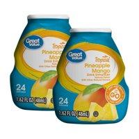 (3 Pack) Great Value Tropical Pineapple Mango Drink Enhancer, 1.62 fl oz