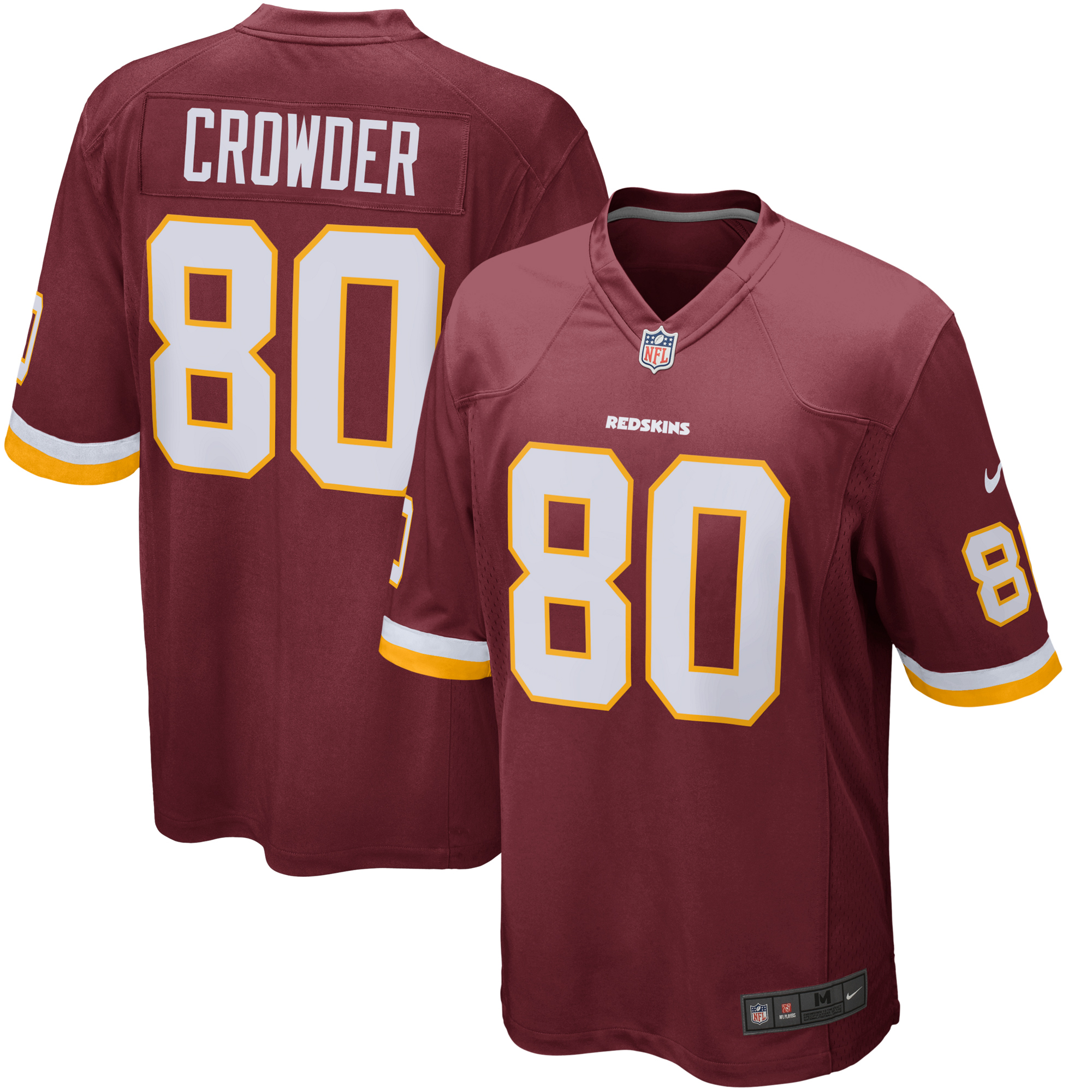 Jamison Crowder Washington Redskins Nike Game Jersey - Burgundy