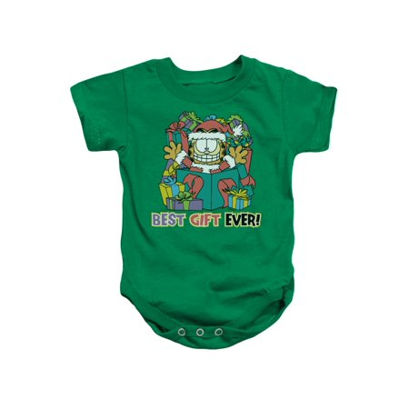 Garfield Best Gift Ever Comic Infant Romper (Best Gifts For 19 Month Old Girl)