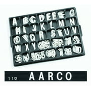 Universal Single Tab Changeable Letters AARHF15