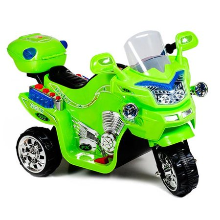 Splatter Motorcycle - Ride on Toy, 3 Wheel Motorcycle for Kids, Battery Powered Ride On Toy by Lil' Rider – Ride on Toys for Boys and Girls, 2 - 5 Year Old - Green FX