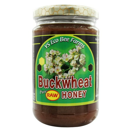 YS Organic Bee Farms - Buckwheat Pure Raw Honey - 13.5 oz. (Organic Canadian Raw Honey)