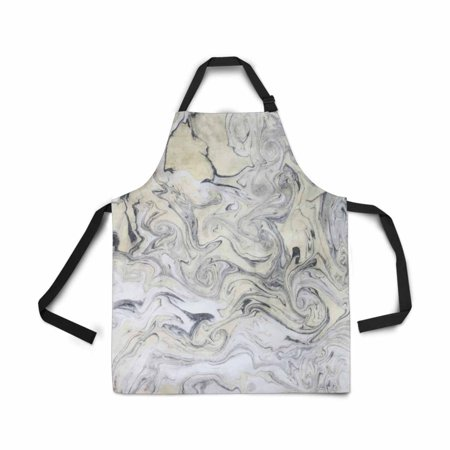 ASHLEIGH Adjustable Bib Apron for Women Men Girls Chef with Pockets Marble Seamless Pattern Novelty Kitchen Apron for Cooking Baking Gardening Pet Grooming Cleaning Chef Apron Pattern