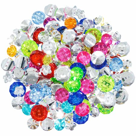 Small Plastic and Jewel Button Grab Bag – Multiple Colors, Styles and Sizes – Crafting, Scrapbooking and More