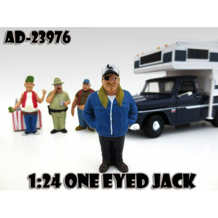 Trailer Park Figures Series 1 One Eyed Jack, American Diorama Figurine 23976 - 1/24