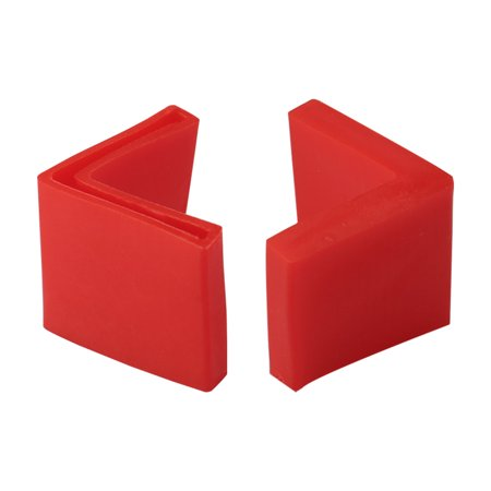 40mm x 40mm Angle Iron Foot Pad L Shaped PVC Leg Cap Floor Protector Red 2pcs - image 7 de 7