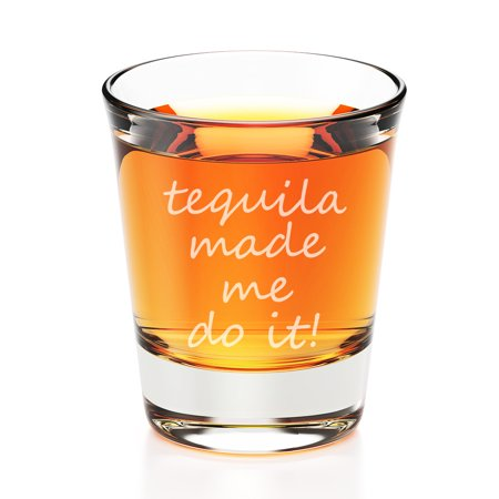 Tequila Shot Glasses (Tequila Made Me Do It Engraved Fluted Shot)
