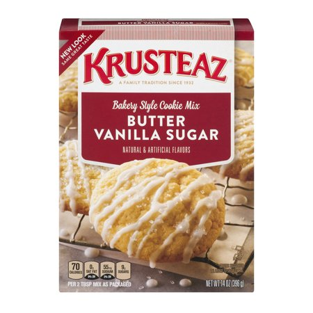 (3 Pack) Krusteaz Bakery Style Cookie Mix, Butter Vanilla Sugar, 14-Ounce Box