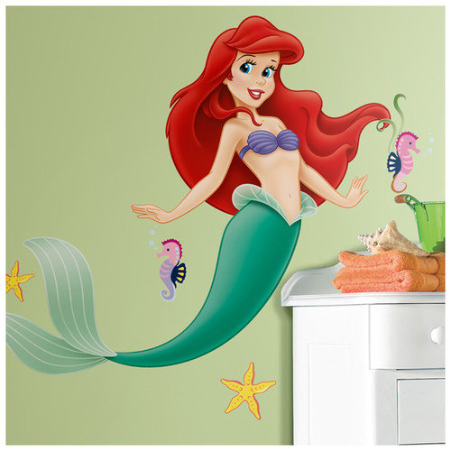 Room Mates Licensed Designs Little Mermaid Giant Wall Decal