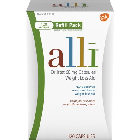 alli Diet Weight Loss Supplement Pills, Orlistat 60mg Capsules, 120 (Best South Indian Diet For Weight Loss)