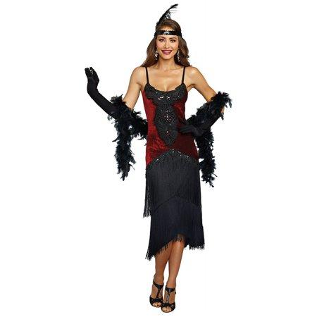 Dreamgirl Women's Luxe Million Dollar Baby Flapper Costume Dress for $<!---->