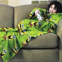 Nickelodeon SpongeBob Stretchy Bob Blanket with Sleeves