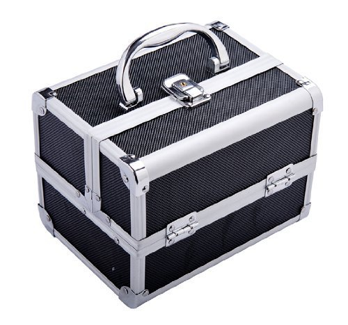 Soozier Mirrored Mini Professional Makeup Travel Case