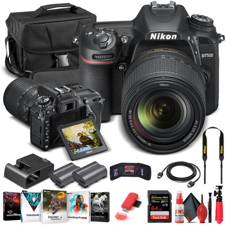 Nikon D7500 DSLR Camera W/ 18-140mm Lens 1582 - Basic Bundle