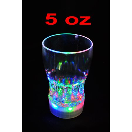 LED Cola Glass Light-Up Drink Glasses Flashing Acrylic Blinking Beer Barware