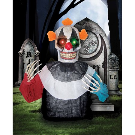 Creepy Clown Halloween Decorations.Light Up Creepy Clown Grave Breaker Halloween Decoration