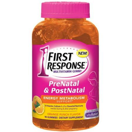 2 Pack - FIRST RESPONSE  PreNatal & PostNatal Energy Metabolism Support, Orange Punch 90