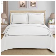 Superior Miller Premium Cotton Embroidered 3-Piece Duvet Cover Set