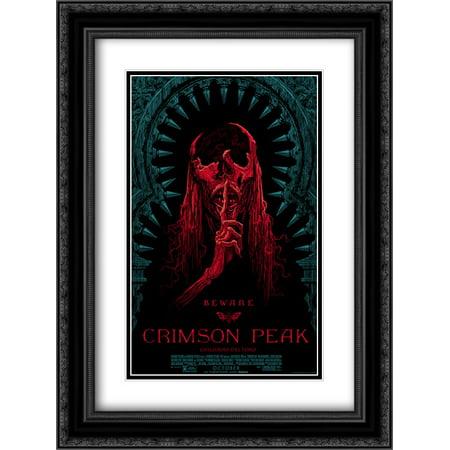 Crimson Peak 18x24 Double Matted Black Ornate Framed Movie Poster Art Print