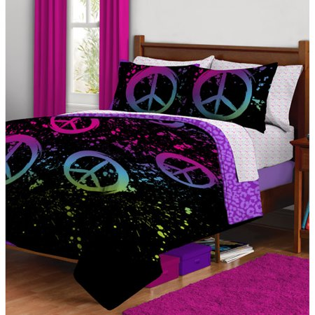peace sign bed set new peace signs teal bedding