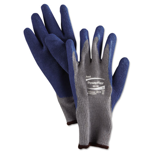 PowerFlex Gloves, Blue/Gray, Size 9, 12 Pairs ANS801009PR