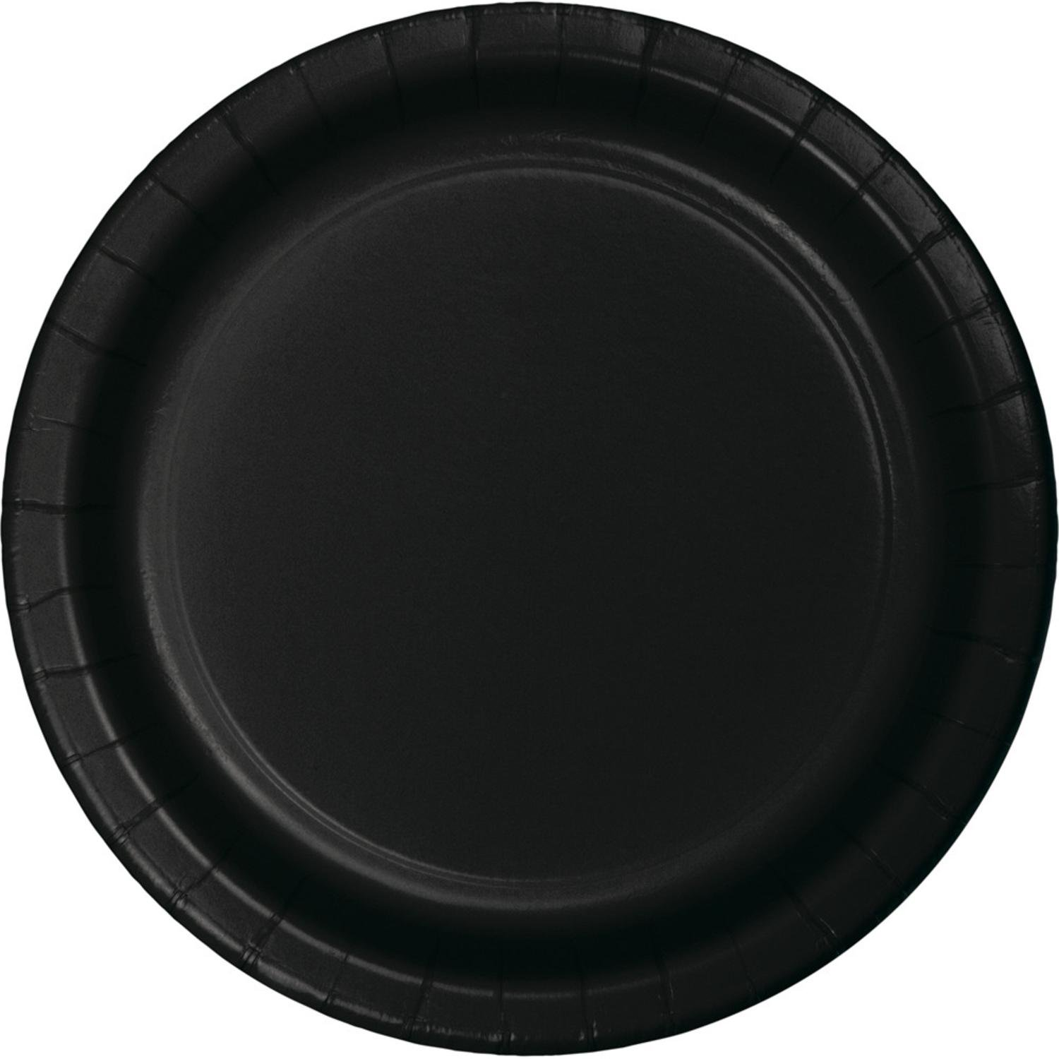 Club Pack of 192 Jet Black Disposable Paper Party Dinner Plates 9   sc 1 st  Walmart.com : black disposable plates - Pezcame.Com