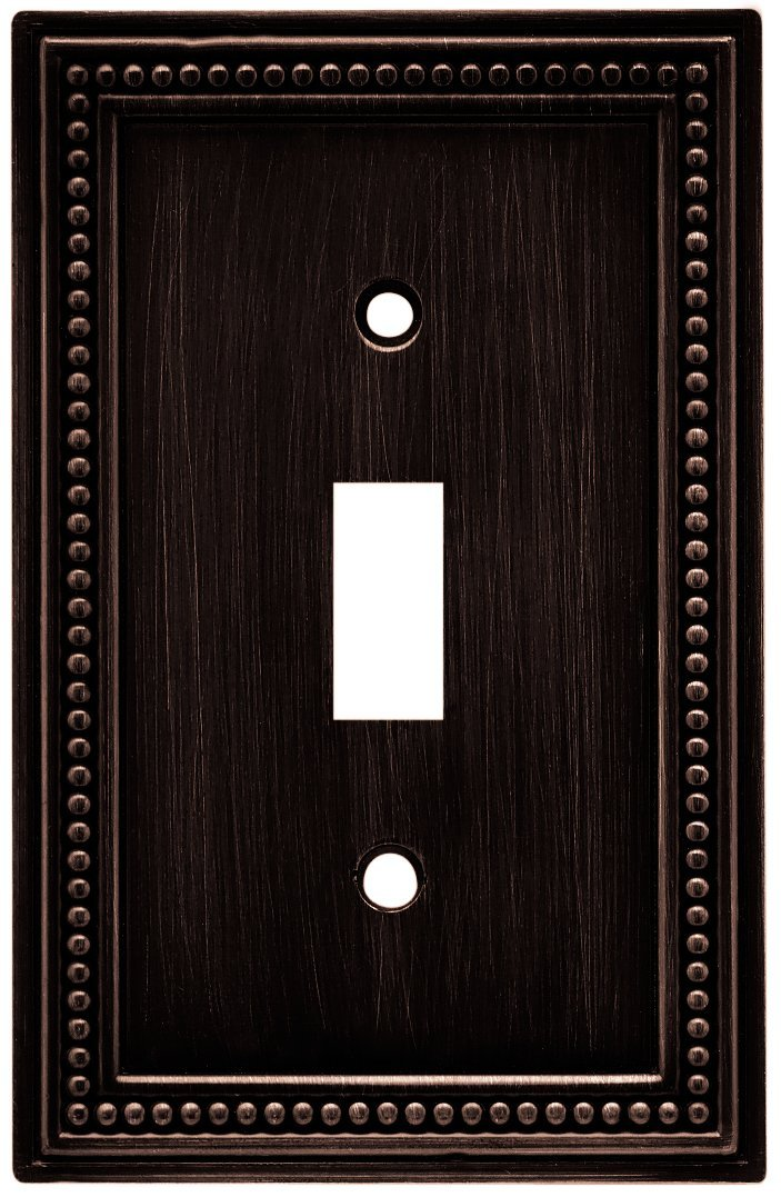 64411 Beaded Single Toggle Switch Wall Plate Cover Venetian Bronze By Brainerd Ship From Us