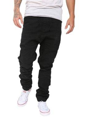 Mens Athletic Slim Jogger Trousers Harem Cargo Twill Pants