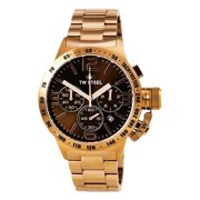 CB193 Men's Canteen Bracelet Brown Dial Rose Gold Steel Chronograph Watch