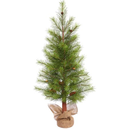 Vickerman 4 White Pine Artificial Christmas Tree, Unlit