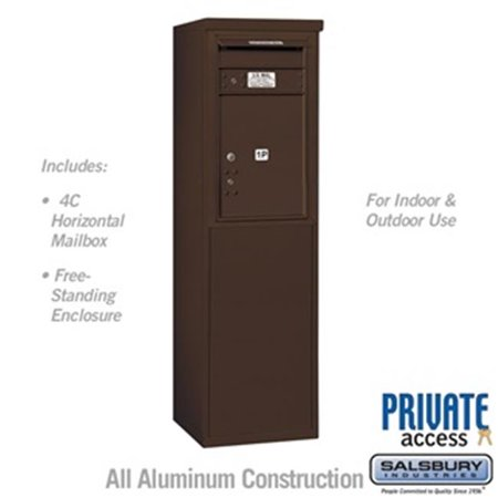 Salsbury 3907S-1PZFP 55 - 0.25 in. 7 Door High Unit Single Column Stand Alone Parcel Locker 1 PL5 with Outgoing Mail Compartment Front Loading Free Standing 4C Horizontal Mailbox Unit, - Outgoing Mail