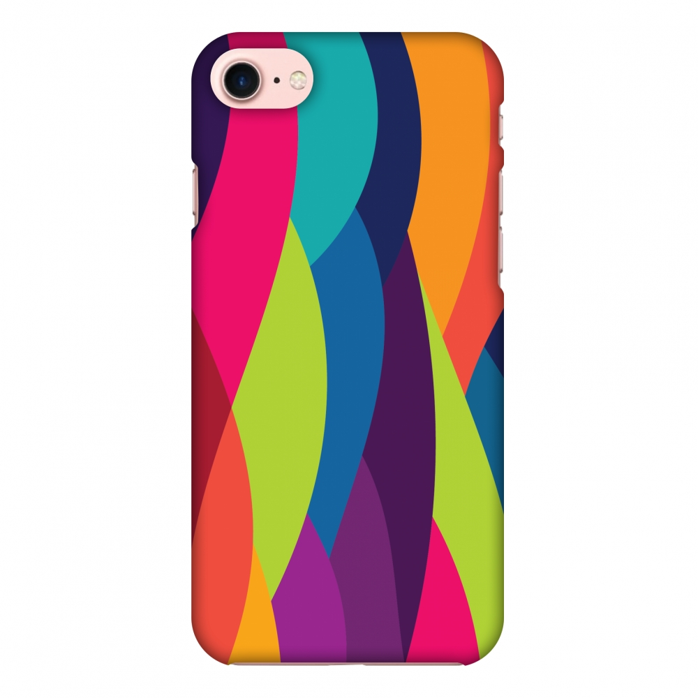iPhone 8 Case - Bold Waves, Hard Plastic Back Cover. Slim Profile Cute Printed Designer Snap on Case with Screen Cleaning Kit
