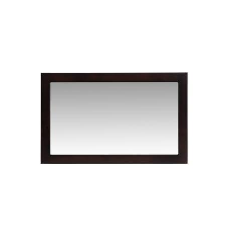 "Fully Framed 48"" Espresso Mirror"
