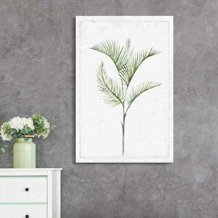 wall26 - Canvas Wall Art - Hand Drawn Green Slim Tree Leaf Series 1 Artwork - Giclee Print Gallery Wrap Modern Home Decor Ready to Hang - 16x24 inches