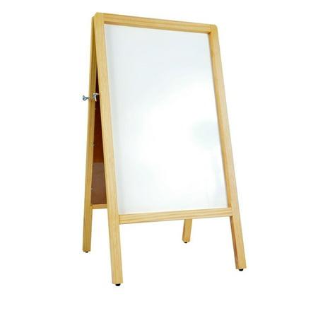 Signworld A Frame Wooden White Marker (Dry Erase) Menu Pavement Board