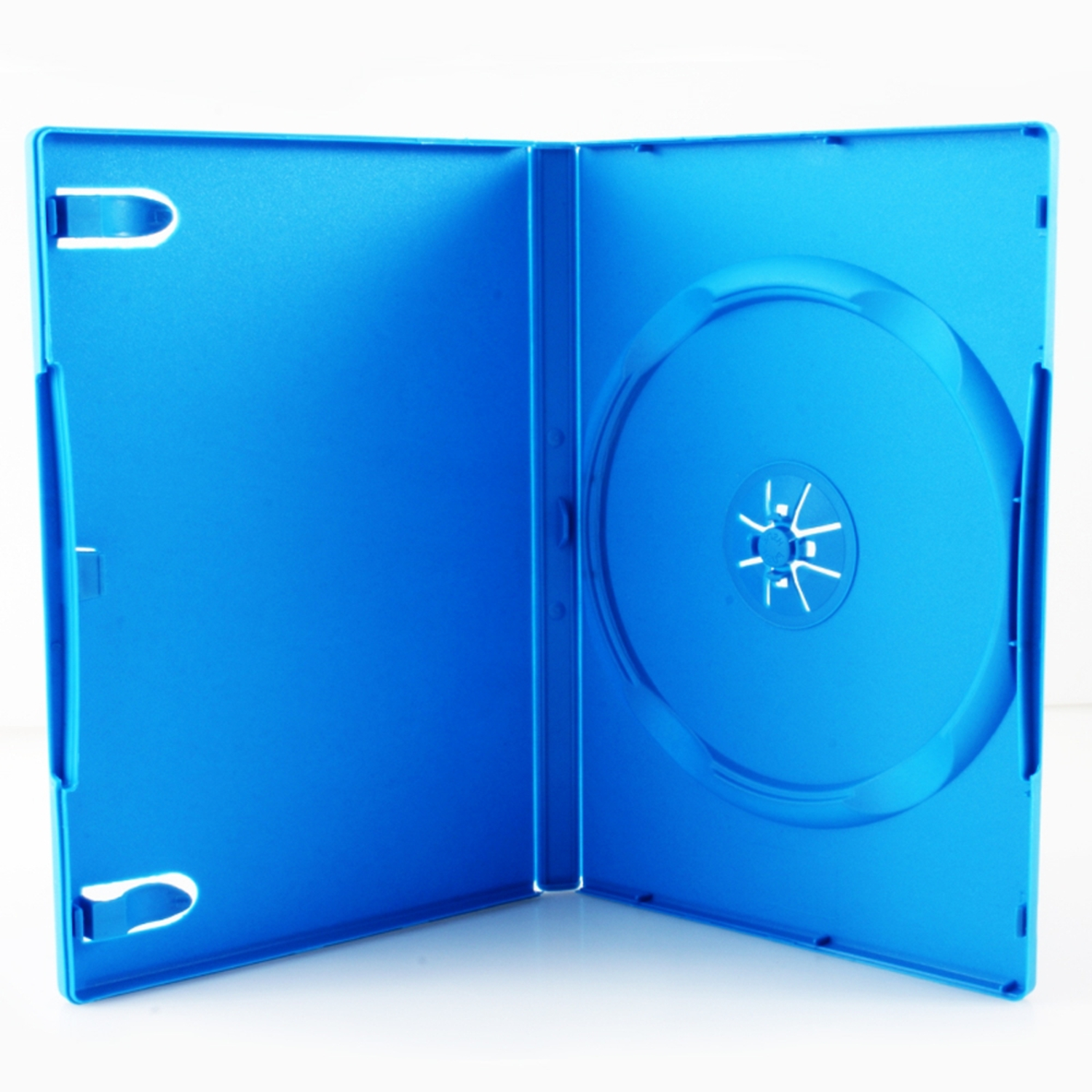 Third Party Media Package - 14mm Single DVD Case For Nintendo Wii U, Baby Blue