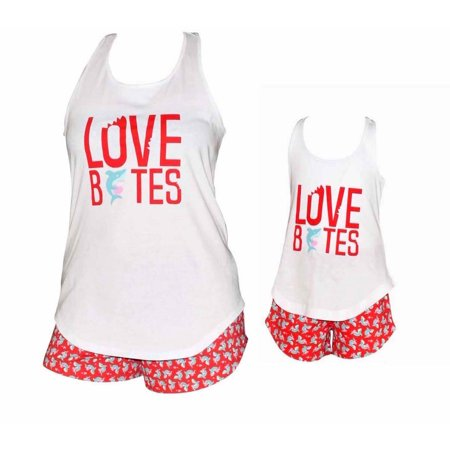 "- Unique Baby UB Girls ""Love Bites"" Mommy and Me Valentine's Day Outfit (2t)"