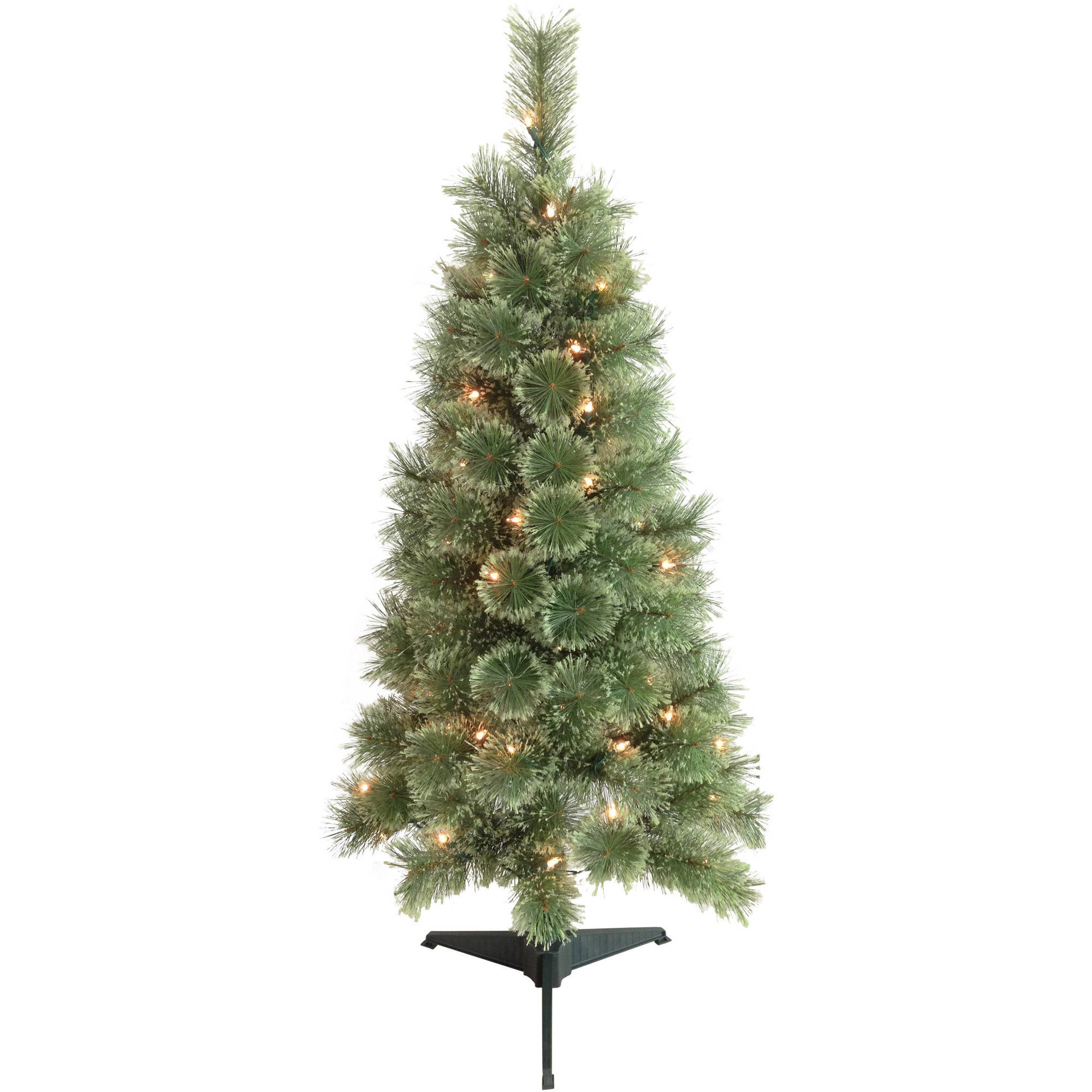 Holiday Time Pre-Lit 6.5' Cashmere Artificial Christmas Tree, Clear ...