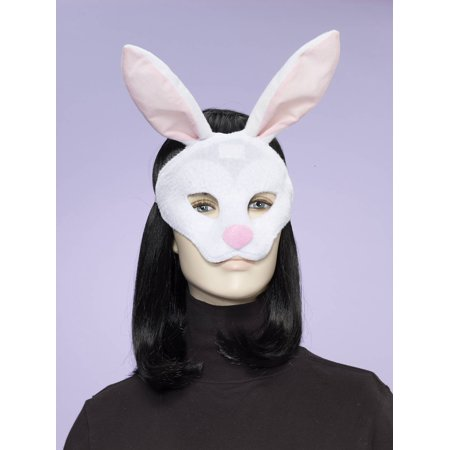 Deluxe Fuzzy Animal Mask Adult: Rabbit One Size - image 1 de 1