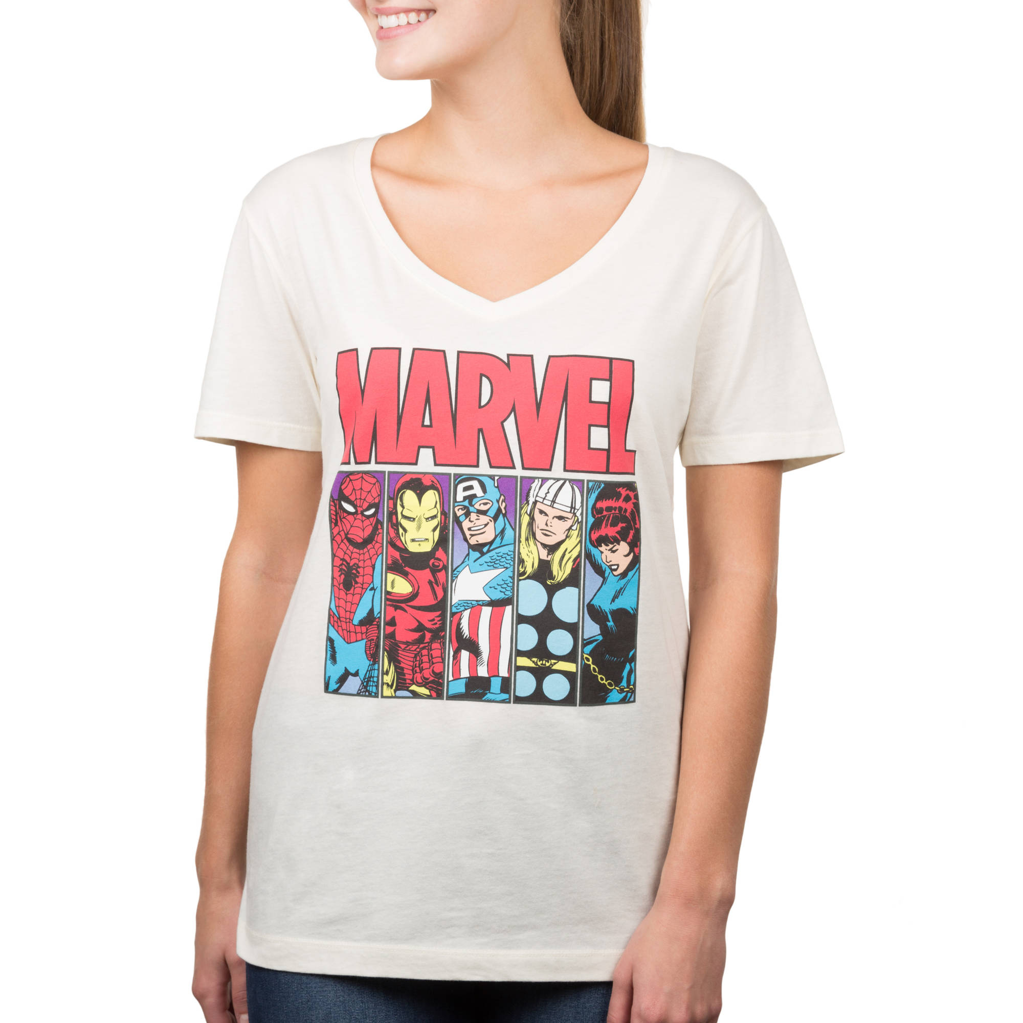 "Marvel Juniors ""Ombre Marvel"" Graphic Boyfriend Tee"